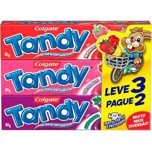 Creme Dental Tandy Sabores 3X50g Leve 3 Pague 2