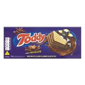 Biscoito Toddy Wafer Chocolate 58x94g