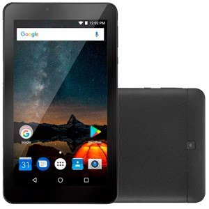 "Tablet Multilaser M7-S NB273, Preto, Tela 7"", WiFi, Android 7.0, 2MP 8GB"