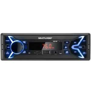 Som Automotivo Multilaser P3336 POP BT, Entrada USB, Auxiliar, MP3, Bluetooth e Rádio FM