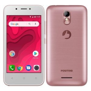 "Smartphone Positivo Twist Mini Dual Chip, Rosa, Tela 4"", 3G+WiFi, Android Oreo, 5MP, 8GB"